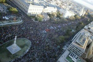 Image: Confluence of the Marches of Dignidad at the 22nd of March coming from all over Spain