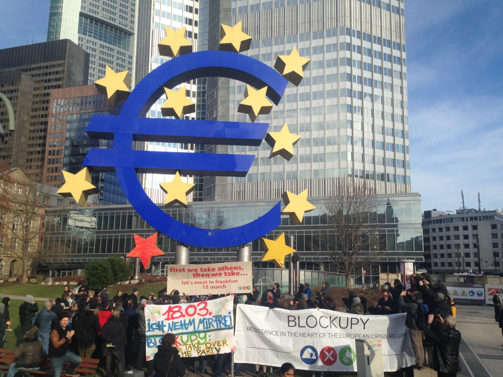 Blockupy action at ECB buliding